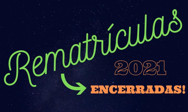 Renovações de Matrículas – 2021